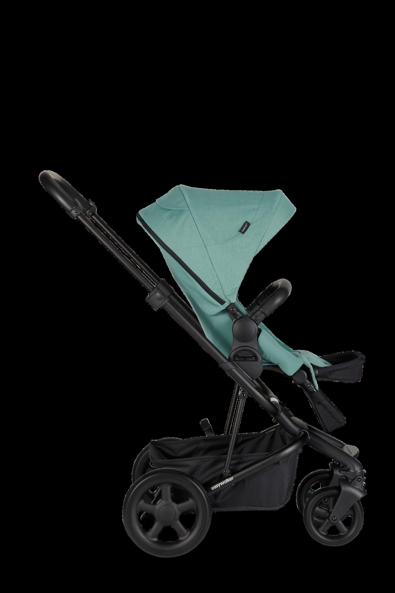 Easywalker Harvey² Kinderwagen + Reiswieg + Voetenzak + Autostoel-adapter + Hoogte-adapter Ocean Blue