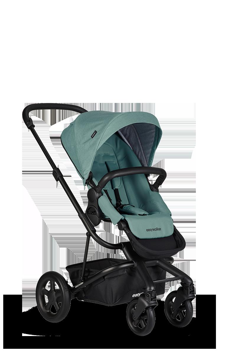 Easywalker Harvey² Kinderwagen + Reiswieg + Voetenzak + Autostoel-adapter + Hoogte-adapter Coral green