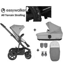 Easywalker Harvey² All Terrain Kinderwagen + Reiswieg + Voetenzak + Autostoel-adapter + Hoogte-adapter Stone Grey