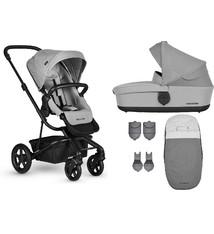 Easywalker Harvey² Kinderwagen + Reiswieg + Voetenzak + Autostoel-adapter + Hoogte-adapter Stone grey