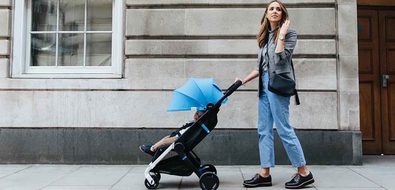 Ergobaby Ergobaby Metro Compact Stroller Blue / buggy blauw + Newborn Kit Blue
