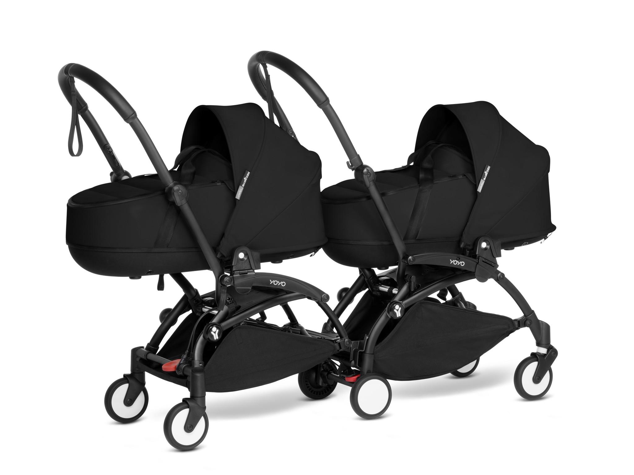 Babyzen YOYO2 zwart frame met CONNECT compleet voor 2 newborns kleur zwart