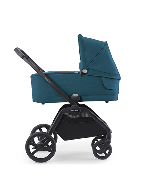 Recaro Recaro Celona Kinderwagen - Frame Aluminium Grey met Zitting Prime Mat Black en Reiswieg Prime Pale Rose