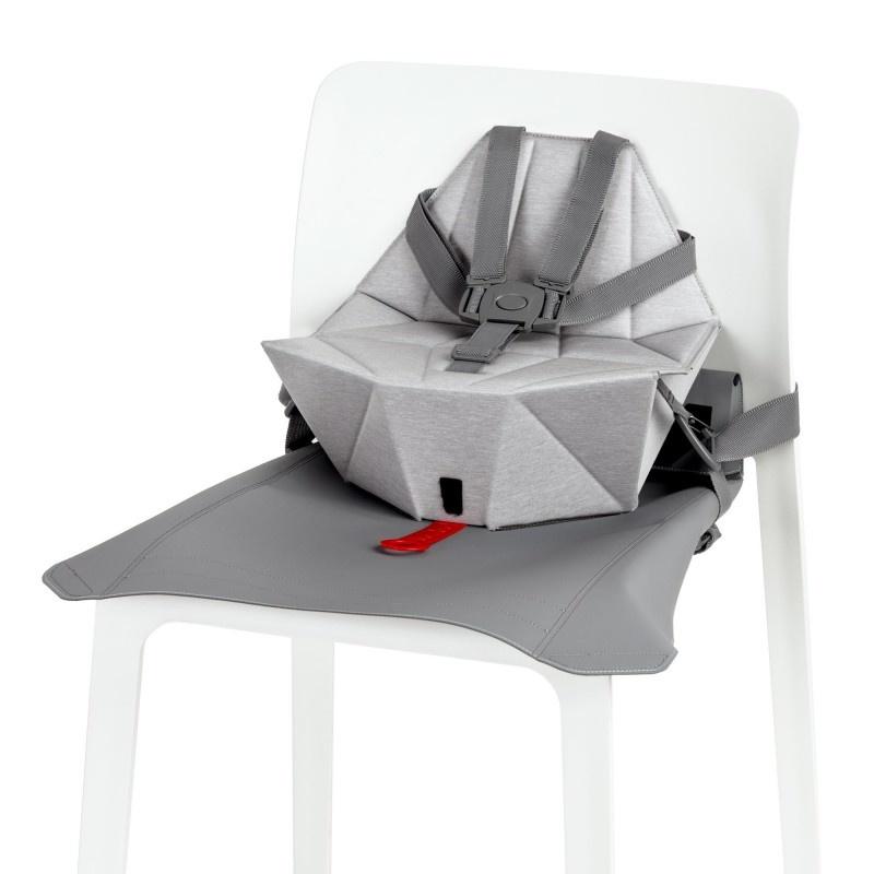 Bombol Bombol Stoelverhoger Pop-Up Booster Pebble Grey