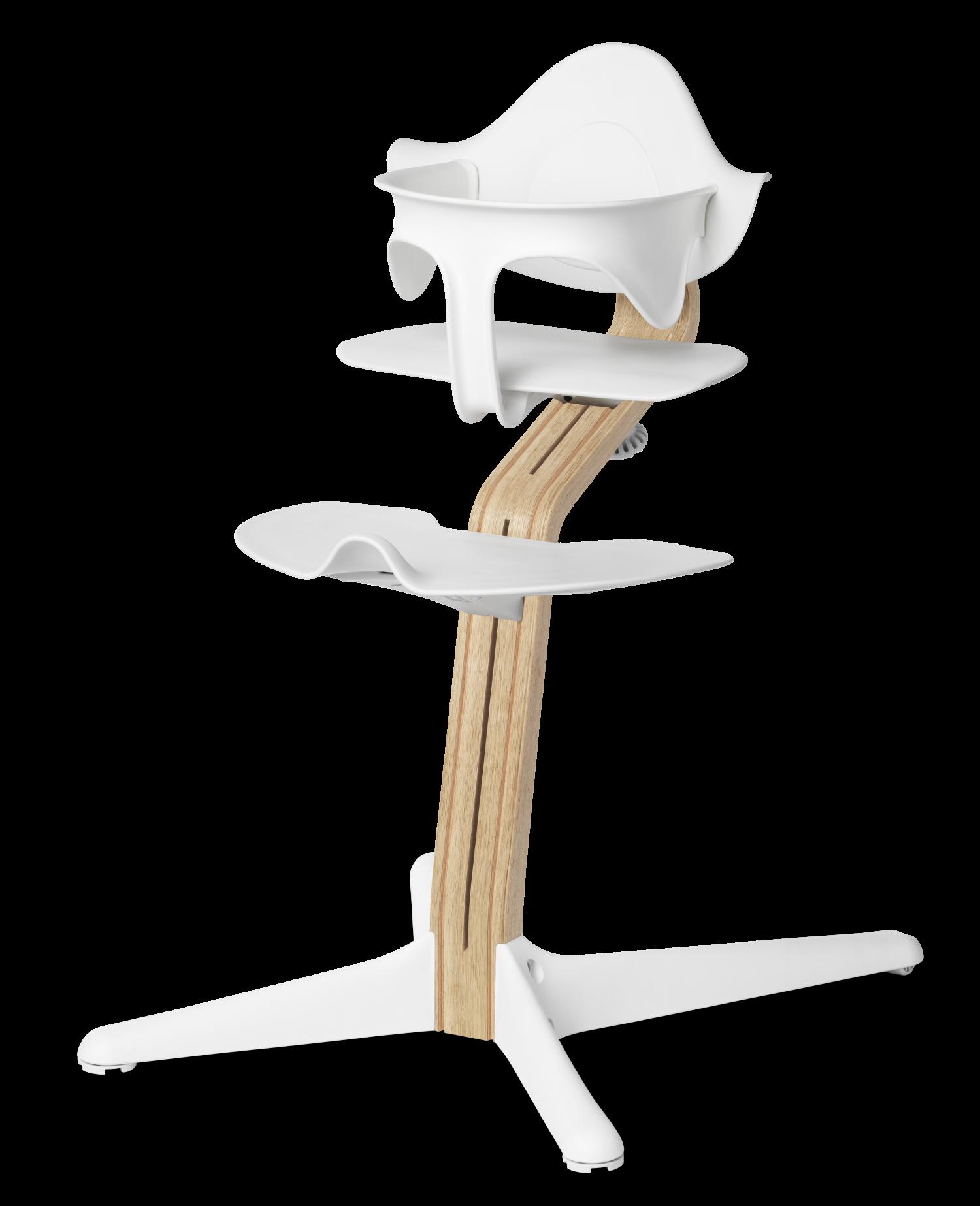 Nomi NOMI highchair Ideale set vanaf 6 maanden Basis eiken wit oiled en stoel wit