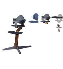 Nomi NOMI highchair Ideale set vanaf 6 maanden Basis walnoot nature oiled en stoel antraciet