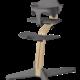 Nomi NOMI highchair complete set vanaf de geboorte Basis eiken wit oiled en stoel grijs