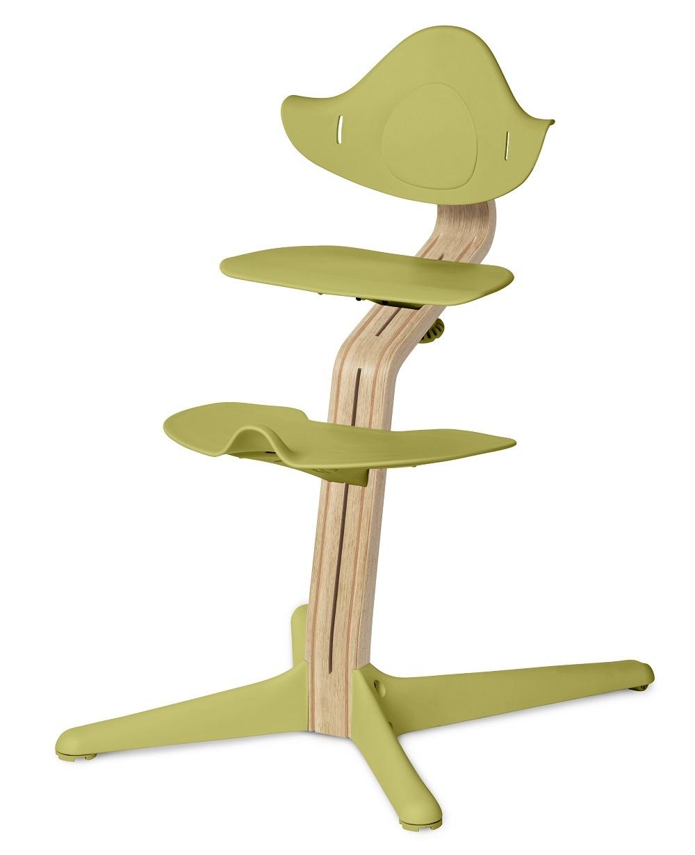 NOMI highchair meegroeistoel Basis eiken wit oiled en stoel Lime