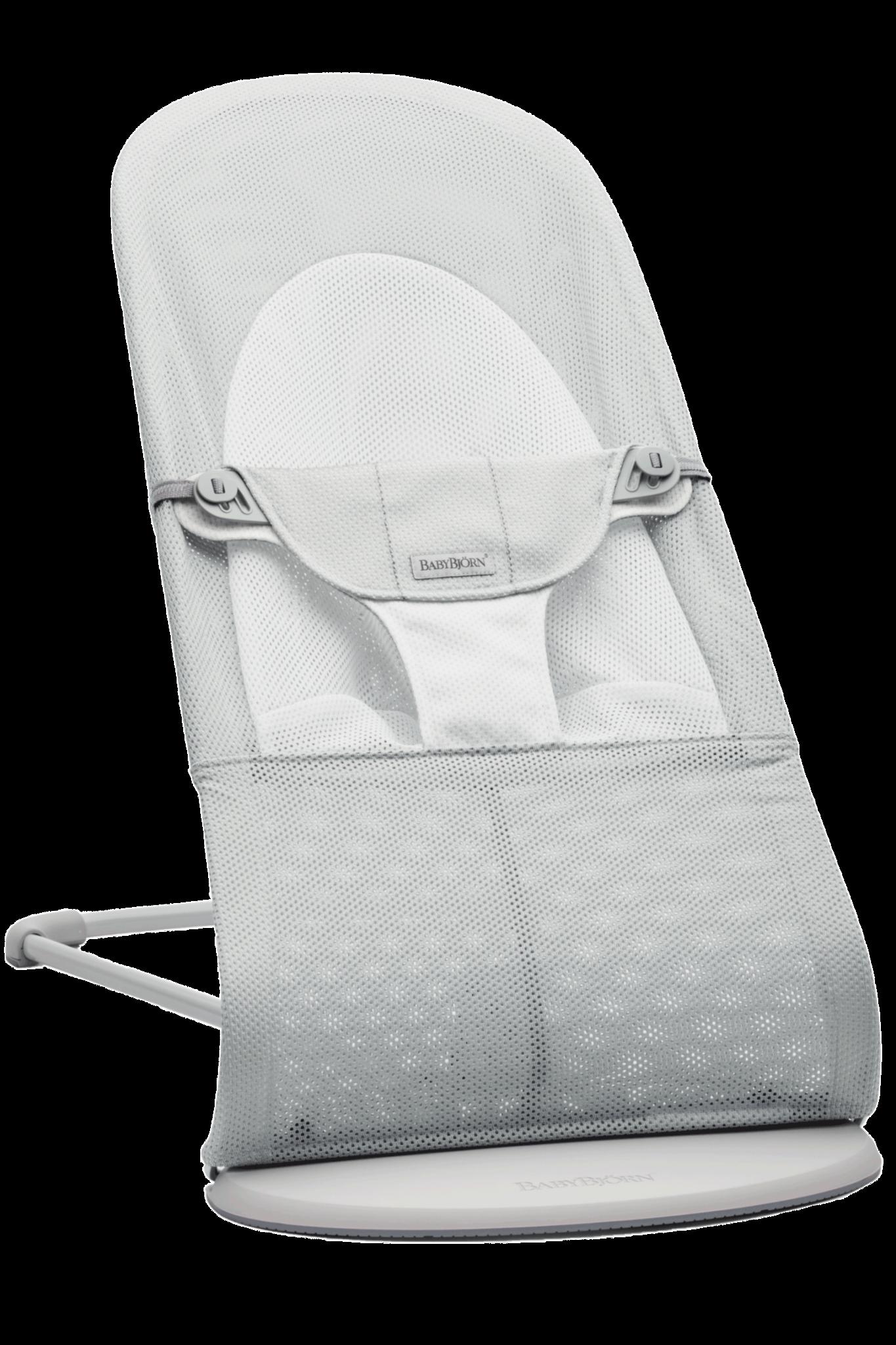 BABYBJÖRN Wipstoeltje Balance Soft Lichtgrijs frame Zilver-Wit Mesh