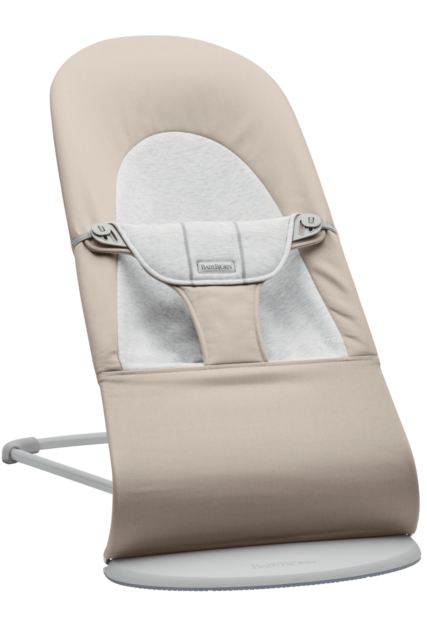 BABYBJÖRN Wipstoeltje Balance Soft Lichtgrijs frame Beige-Grijs Cotton Jersey