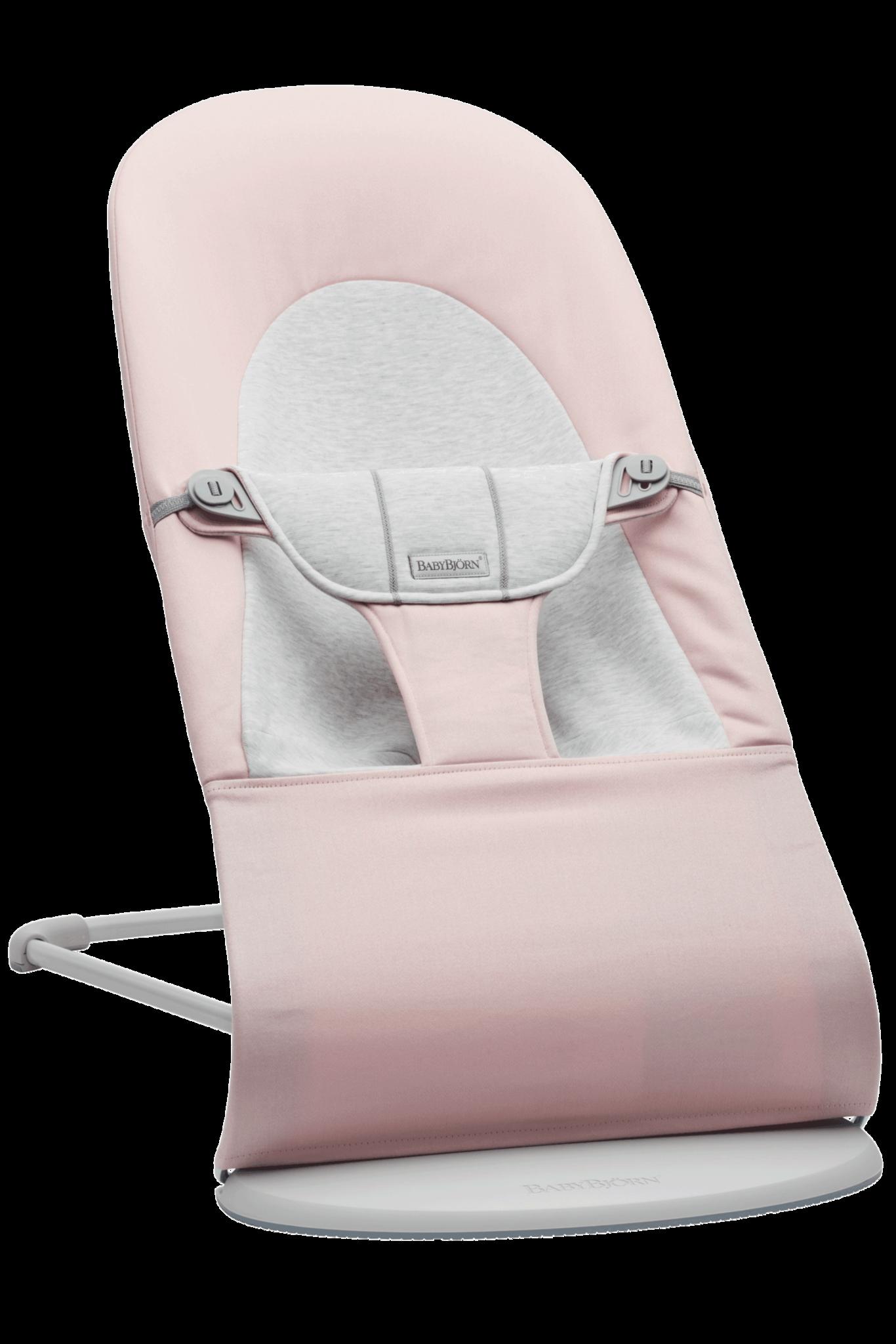 BABYBJÖRN Wipstoeltje Balance Soft Lichtgrijs frame Lichtroze-Grijs Cotton Jersey