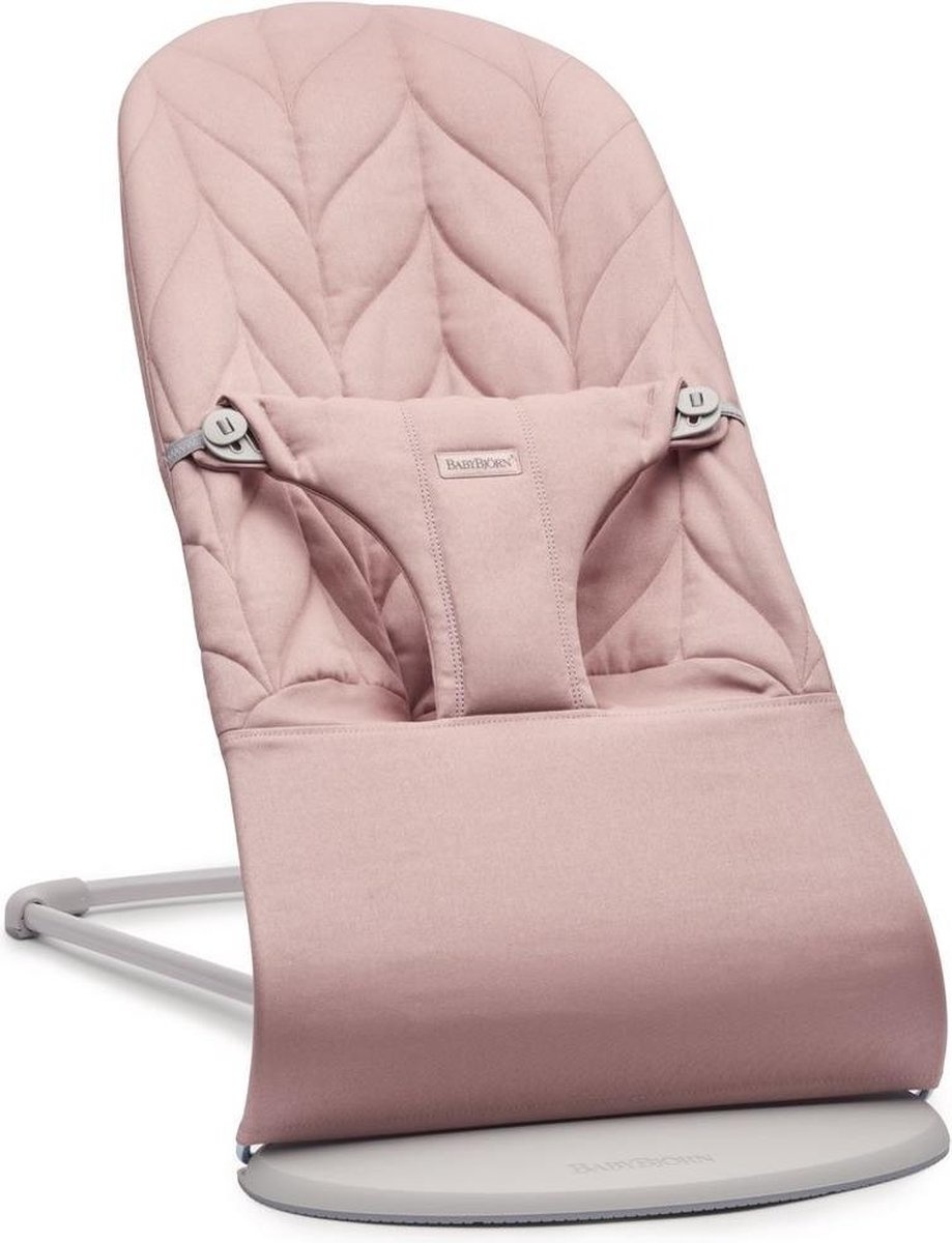 BABYBJÖRN Wipstoeltje Bliss Lichtgrijs frame Oudroze Cotton Kroonblad quilt