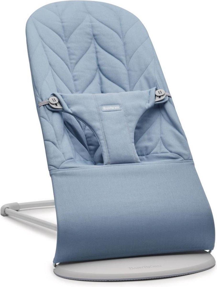 BABYBJÖRN Wipstoeltje Bliss Lichtgrijs frame Blauw Cotton Kroonblad quilt