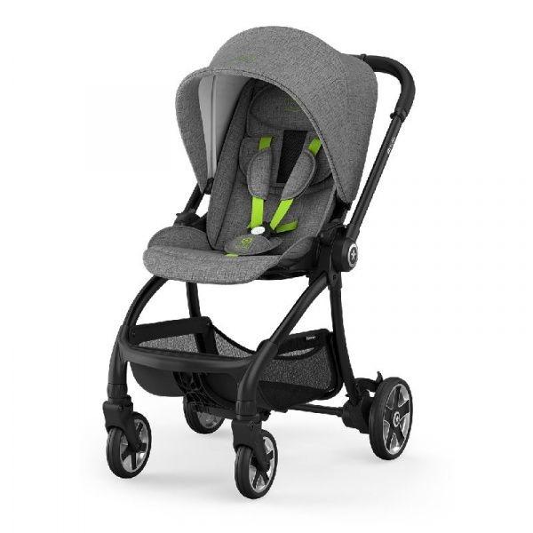 Kiddy Kinderwagen EVOSTAR LIGHT 1 Grey Melange - Super Green