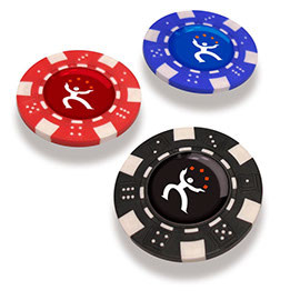 SPORTS Kunststof Pokerchip Bal Marker