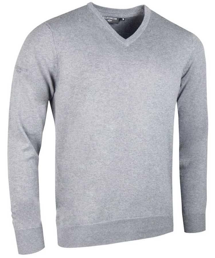 GLENMUIR Glenmuir Mens V neck cotton sweater - Eden