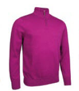 GLENMUIR Glenmuir Zip Neck Cotton Sweater - Devon