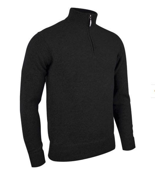 GLENMUIR Glenmuir Zip Neck Merino Sweater - Jasper