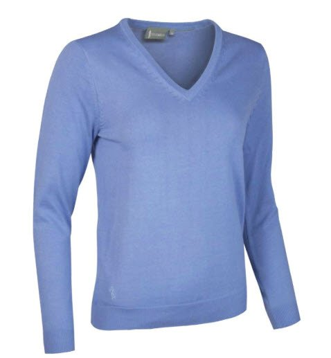 GLENMUIR Glenmuir V Neck Cotton Sweater - Darcy