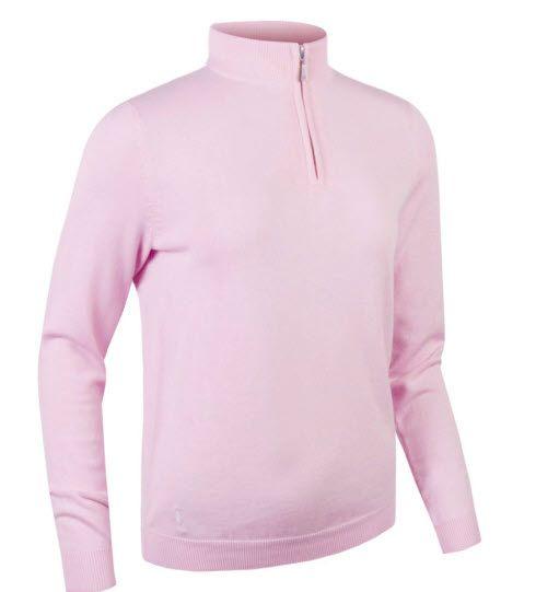 GLENMUIR Glenmuir Zip Neck Cotton Sweater - AVA