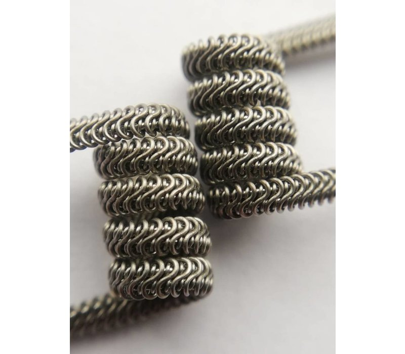 Alien staggered Fused Clapton 2x26/32G core 32 G wrap 0,2 ohm in dual