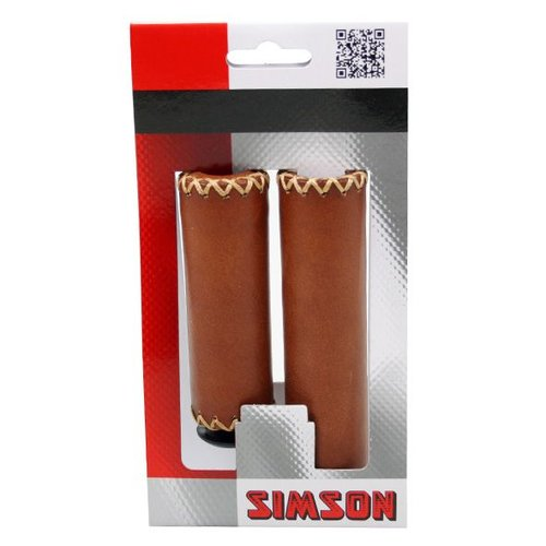 Simson Simson handvat leer kort/lang bruin