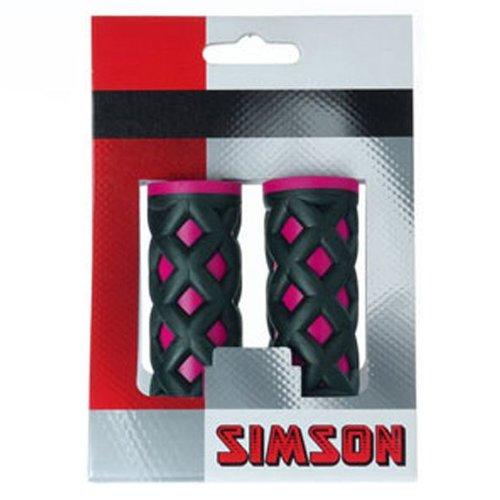 Simson Simson handvat kinder roze/zwart
