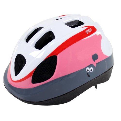 Polisport helm Guppy XS roze/wit