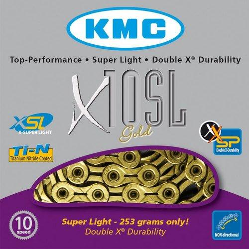 KMC KMC ketting X10 SL-Ti-N goud