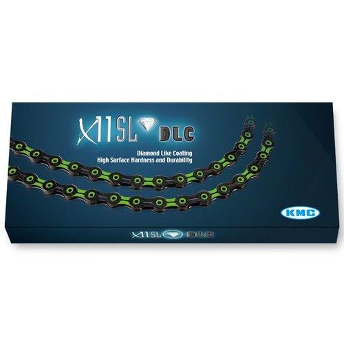 KMC KMC ketting X11 SL DLC zwart/groen