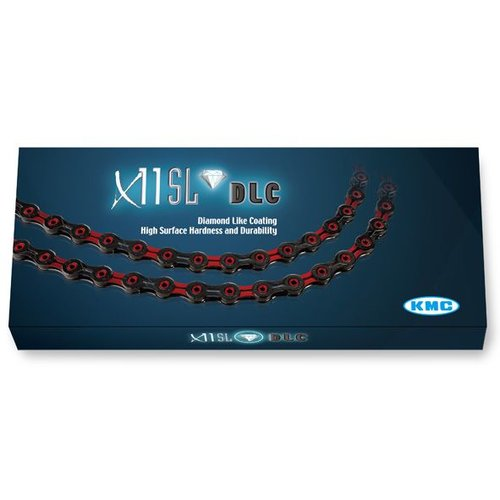 KMC KMC ketting X11 SL DLC zwart/rood