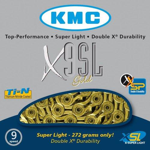 KMC KMC ketting X9 SL-Ti-N gold