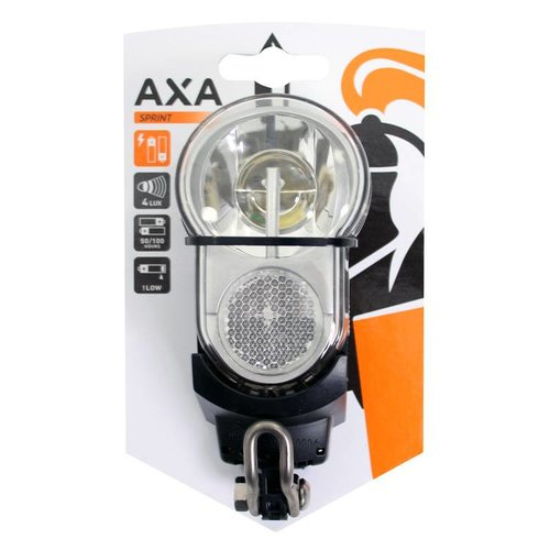 AXA Axa koplamp Sprint batterij zilver