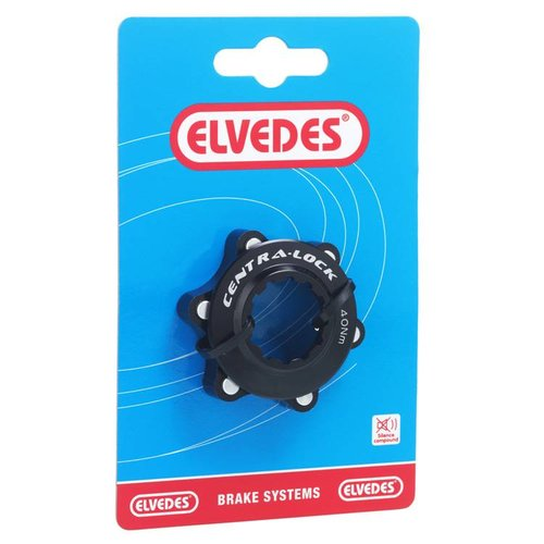Elvedes center lock CNC + ring zwart