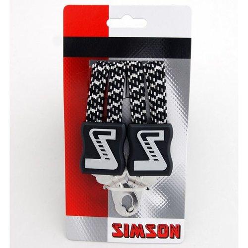 Simson Simson snelbinder lang zwart/wit