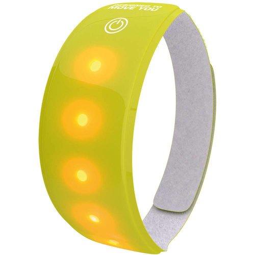 Wowow Lightband geel XL Rode LED