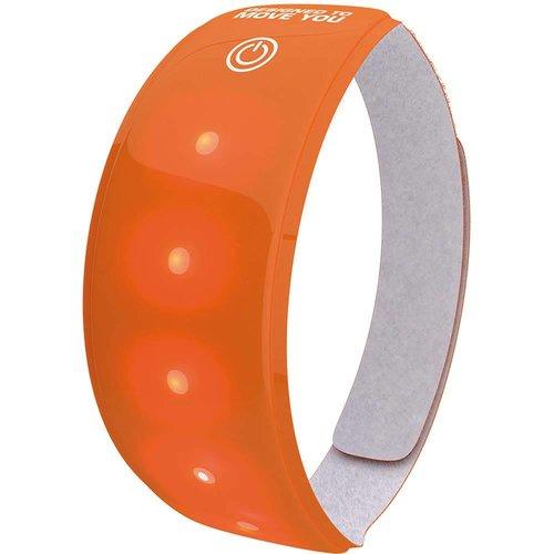Wowow Lightband oranje XL Rode LED