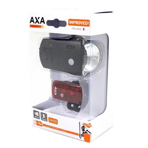 AXA Axa verlichtingsset Greenline 35 Lux Usb