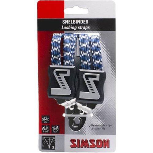 Simson snelbinder lang wit/blauw