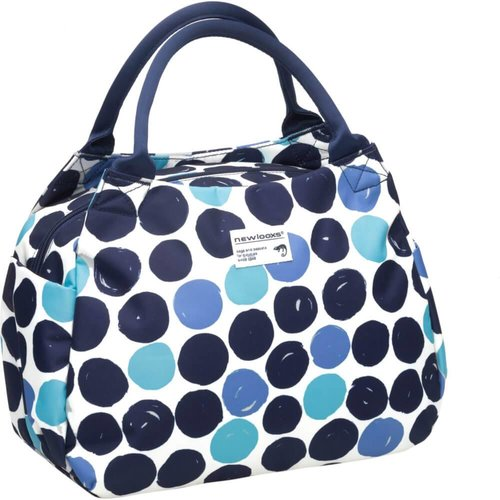New Looks handtas tosca midi dots blauw