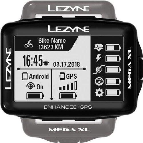 Lezyne LEZYNE Mega XL GPS BLK W/ SPD/Cadence & HR sensor