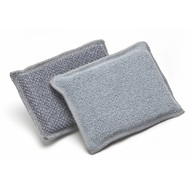 Pack of 10 Scrubbing microfibre sponges DUO 13 x 9 cm