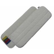 Mop z mikrofibry 44 cm biały z rzepem i kodem kolorów