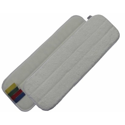 Mop microvezel 44 cm wit met velcro en kleurcodering