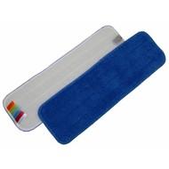 Mop z mikrofibry 44 cm niebieski z rzepem i  kodem kolorów