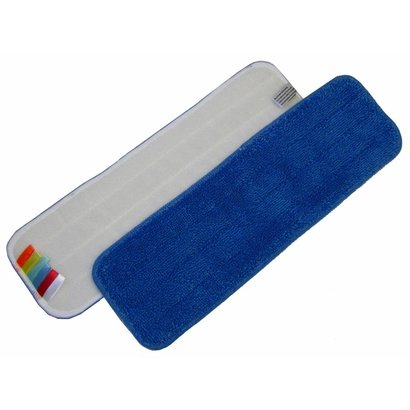 Microfibre mop 44 cm blue with velcro and colour coding