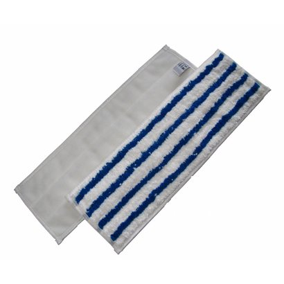 Mop with scouring strips 44 x 13 cm VELCRO