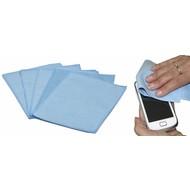 Ściereczka optyczna z mikrofibry do smartfona / iPad 15 x 20 cm niebieska (5 sztuk)