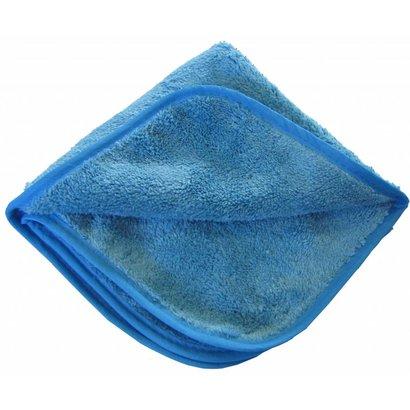 Pack of 5 x Microfibre cloth ''POLISH'' 40 x 40 cm blue