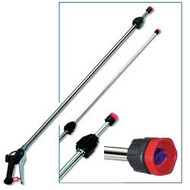 Telescopic lance stainless steel 2 x 1 m